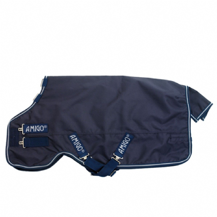 Amigo® Bravo Pony Turnout 0g Standard Neck Navy with Navy/White